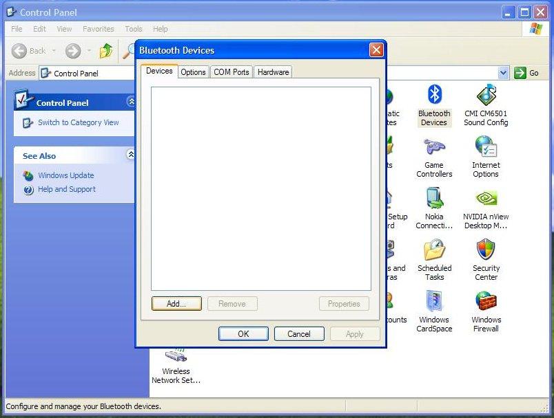 bluetooth for window xp