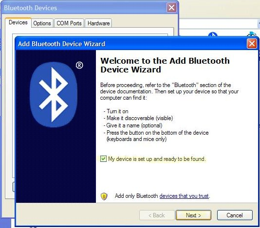 bluetooth suite  for windows xp