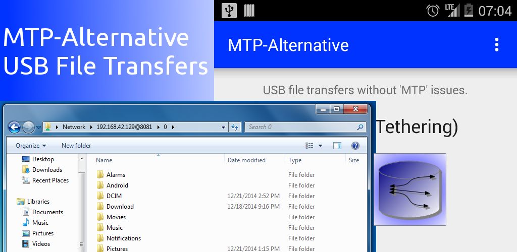 MTP-Alternative USB File Transfers